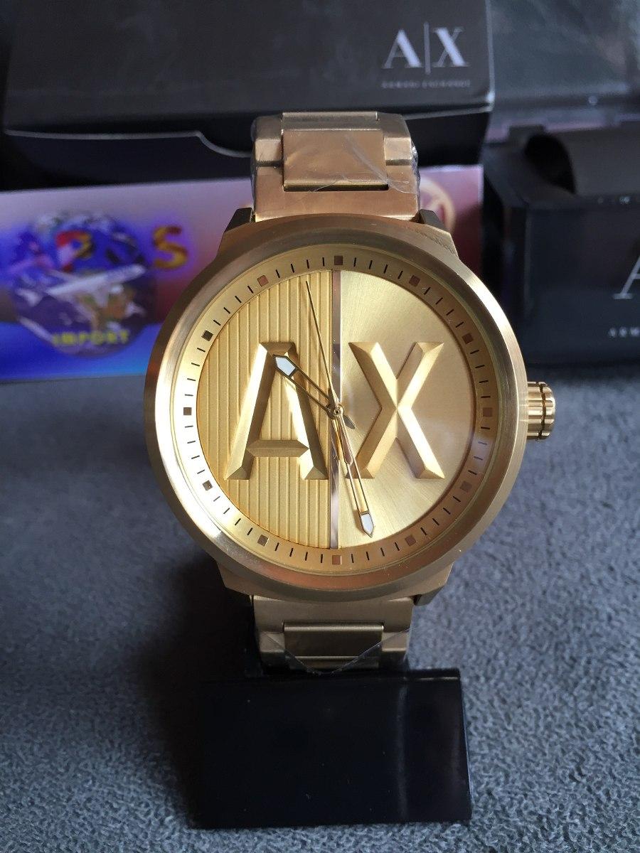 acebfcbbdb9 relogio armani exchange ax1363 gold original completo caixa. Carregando  zoom.