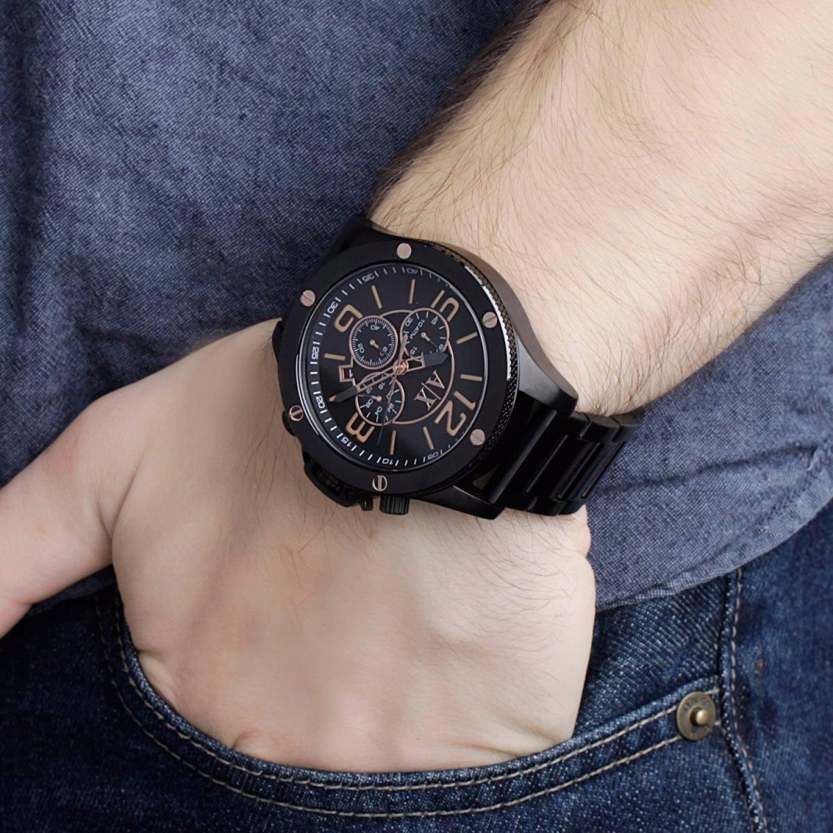 babc9e8a03d relógio armani exchange ax1513 preto original promocional. Carregando zoom.