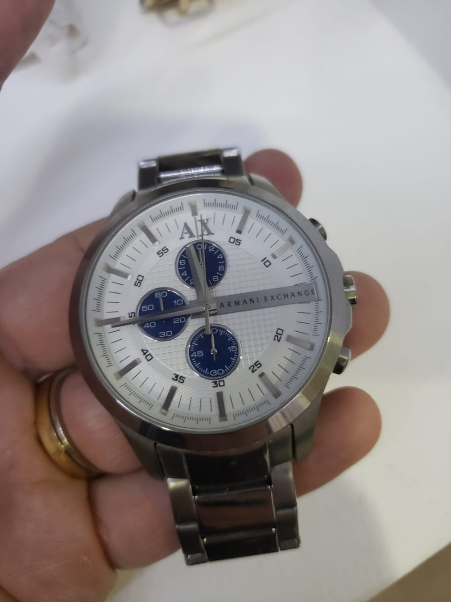 relógio armani exchange ax2136 masculino original prata azul. Carregando  zoom. 1e5525faaf