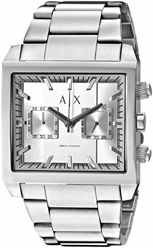 339871342 Relogio Armani Exchange Ax2223 Prata Quadrado Metal Original - R ...