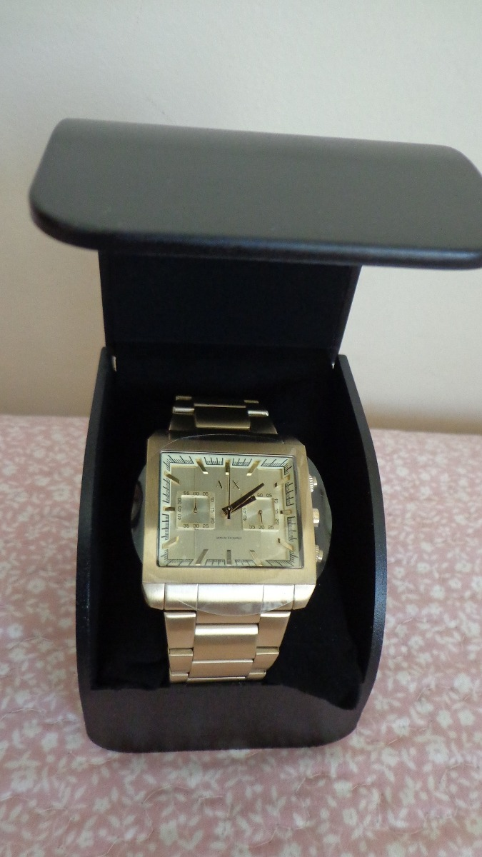 9c0104189bf relógio armani exchange ax2226 dourado original garantia. Carregando zoom.