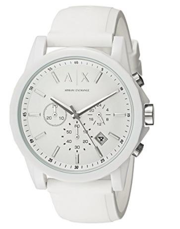 7a90e9a73b9 Relógio Armani Exchange Branco Modelo Ax1325 - R  300