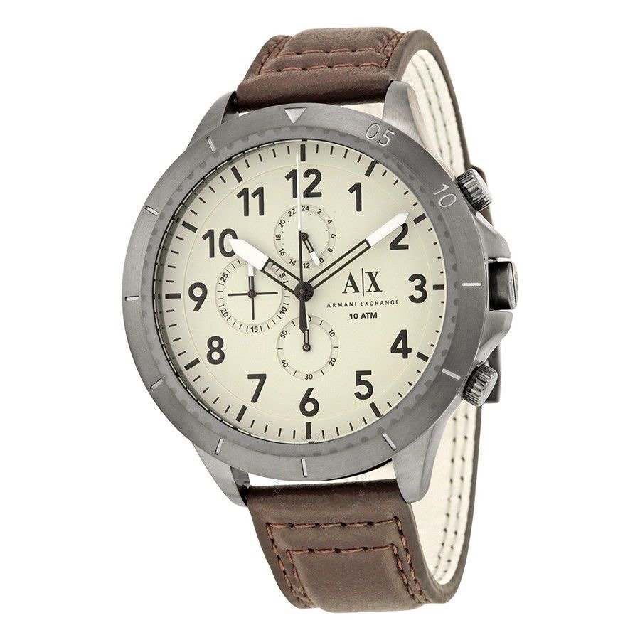 8e32126ace2 relógio armani exchange couro masculino ax 1757 importado us. Carregando  zoom.