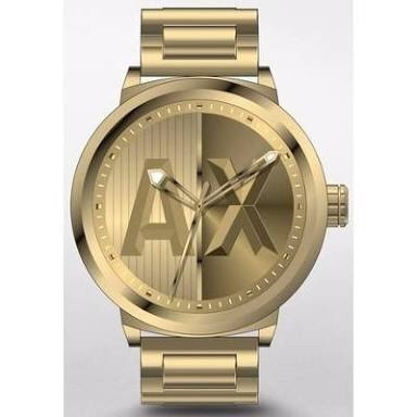 c33b82f5d4c73 Relógio Armani Exchange Masculino Quartz Ax1363 4dn Dourado - R  899 ...