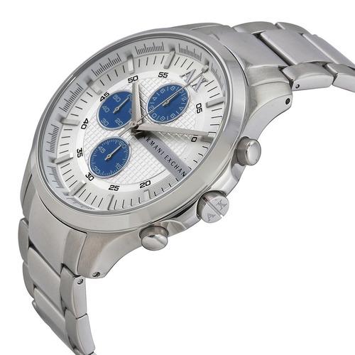 Relógio Armani Exchange Ax2136 Masculino Original Prata Azul - R ... ab7f396595