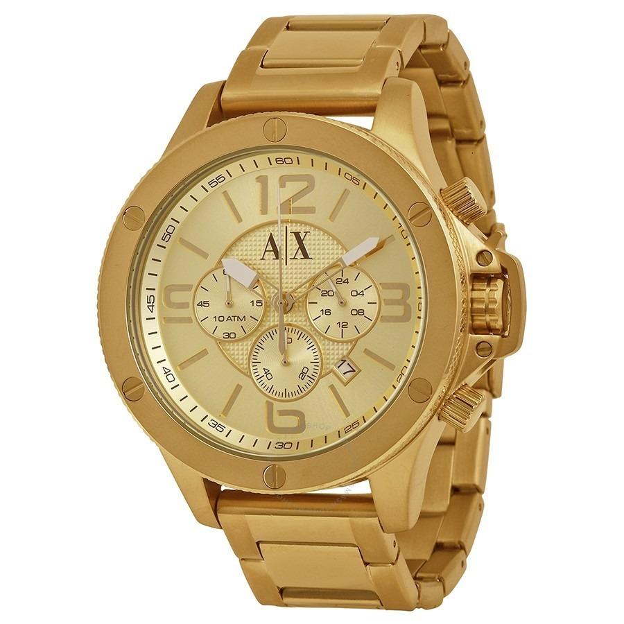 a46ca67f360 relógio armani exchange masculino ax1504 1pn - dourado. Carregando zoom.