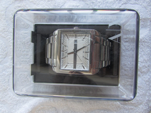 relógio armani exchange masculino prata quadrado ax2201
