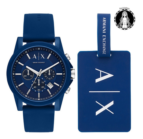 relógio armani exchange outerbanks ax7107/8an nf garantia o