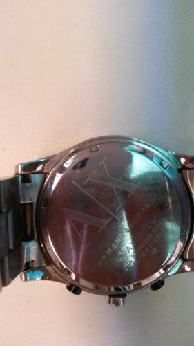 relogio armani exchange prata pulso ax 5002 original