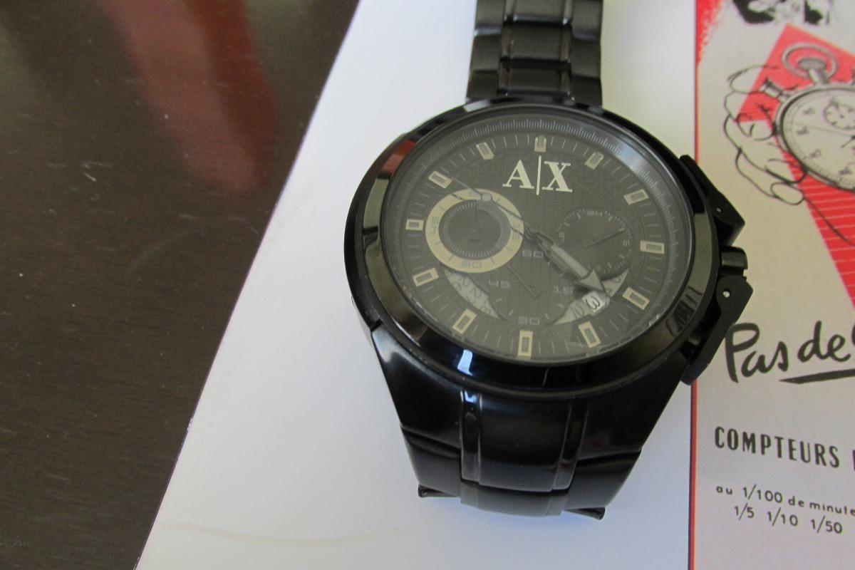 864348c7fb2 relógio armani exchange quartz vidro cristal mineral. Carregando zoom.