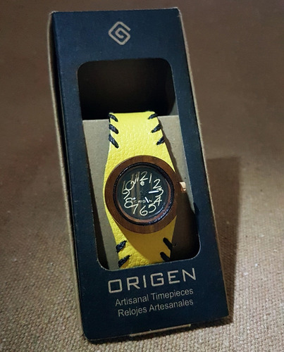 relógio artesanal colombiano - marca origen