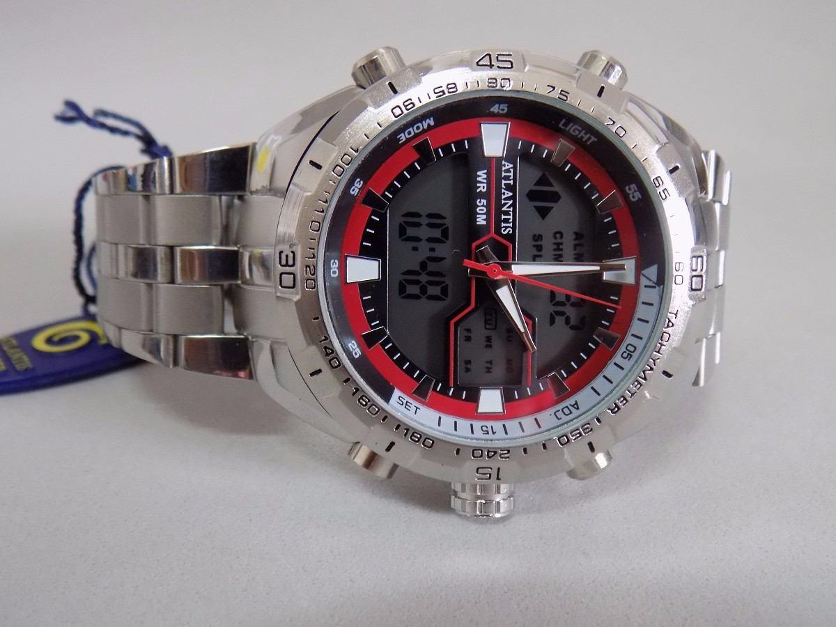 0d11c8ac4d5 Relogio Atlantis 3225 Original Modelo Novo!!!! Vermelho - R  98