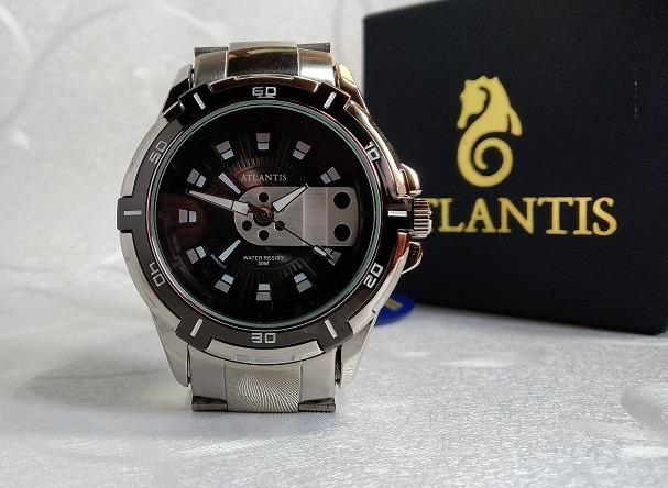 5384746b23f Relógio Atlantis A 3405 Analógico Original Inox Prova Dágua - R  120 ...