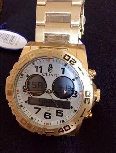 1ba6f230e7c Relógio Atlantis A3228 Rip Curl Dourado - R  90