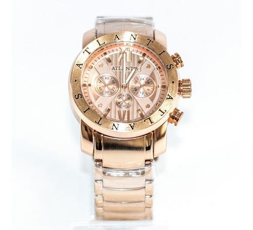 relógio atlantis a3310 rosê
