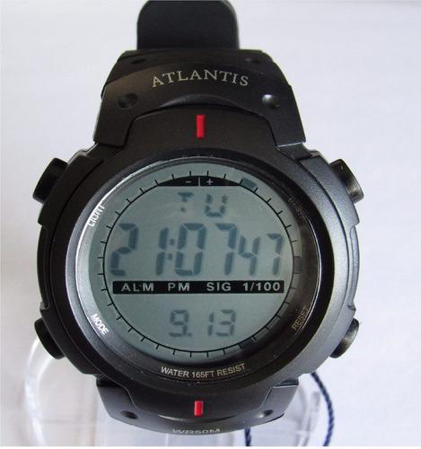 relógio atlantis academia corrida cronômetro a prova d' água