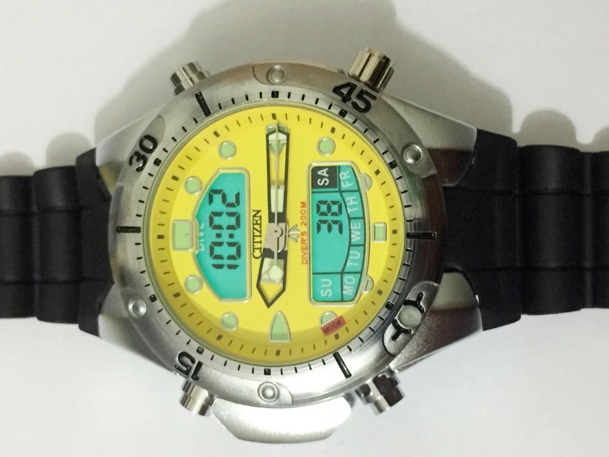 1b7c4588736 relógio atlantis aqualand citizen fundo amarelo borracha. Carregando zoom.