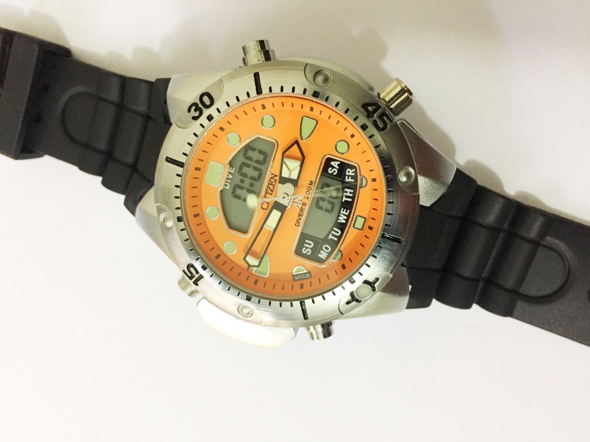 1f05645781b relógio atlantis aqualand citizen fundo laranja borracha. Carregando zoom.