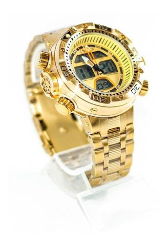 relogio atlantis aqualand j3400 original dourado