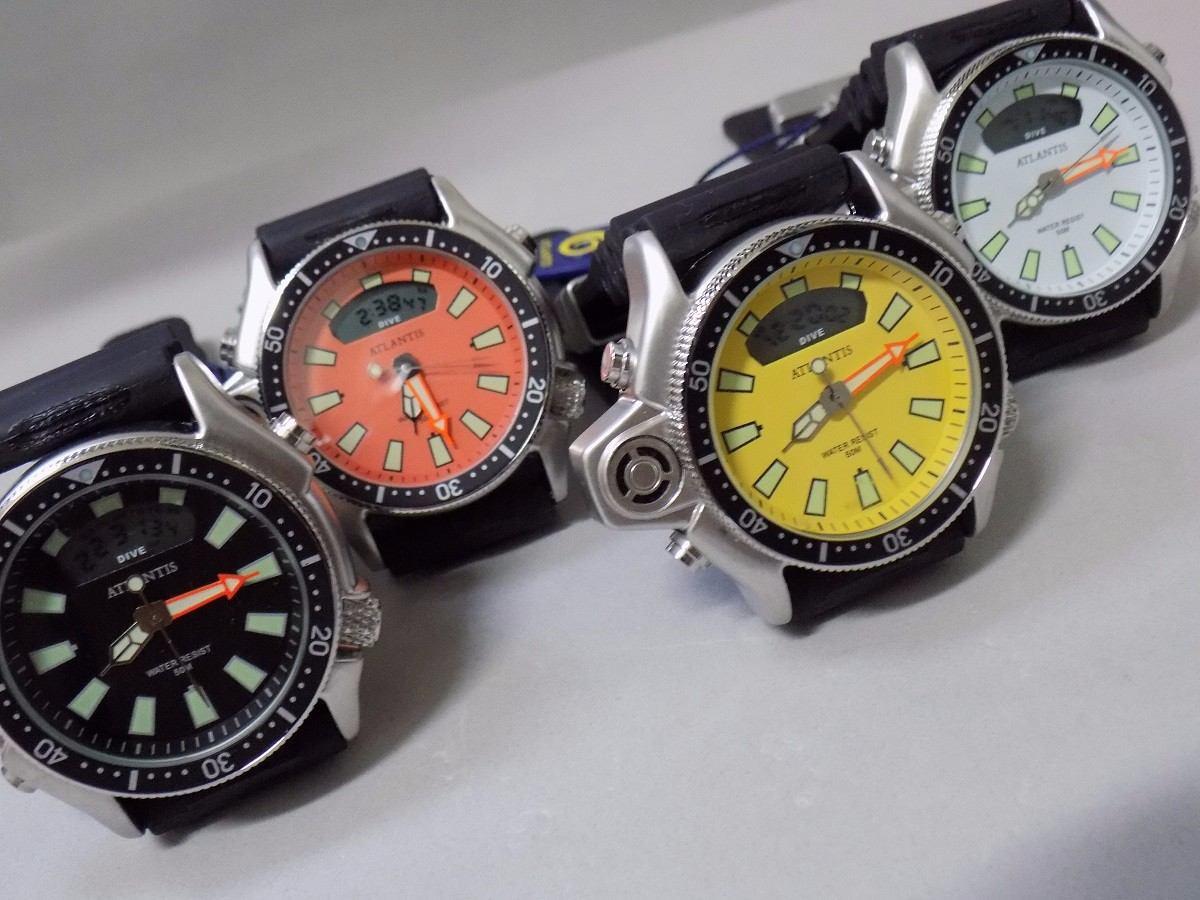 a99227d6f74 relógio atlantis aqualand original mod 3220 puls. borracha. Carregando zoom.