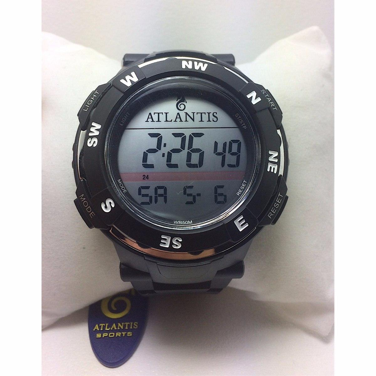beb0f8a7eb9 Relogio Atlantis Barato Natação Esporte Prova D agua G5494