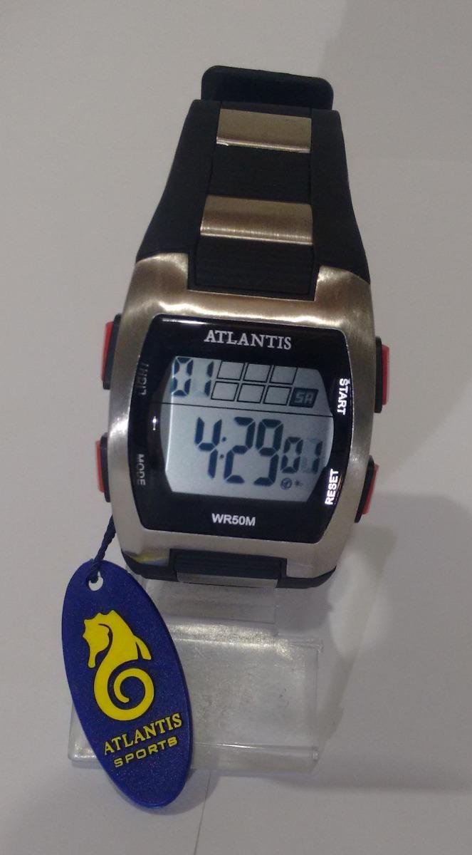 ba061b01b69 relogio atlantis digital cronometro alarme barato elegante. Carregando zoom.