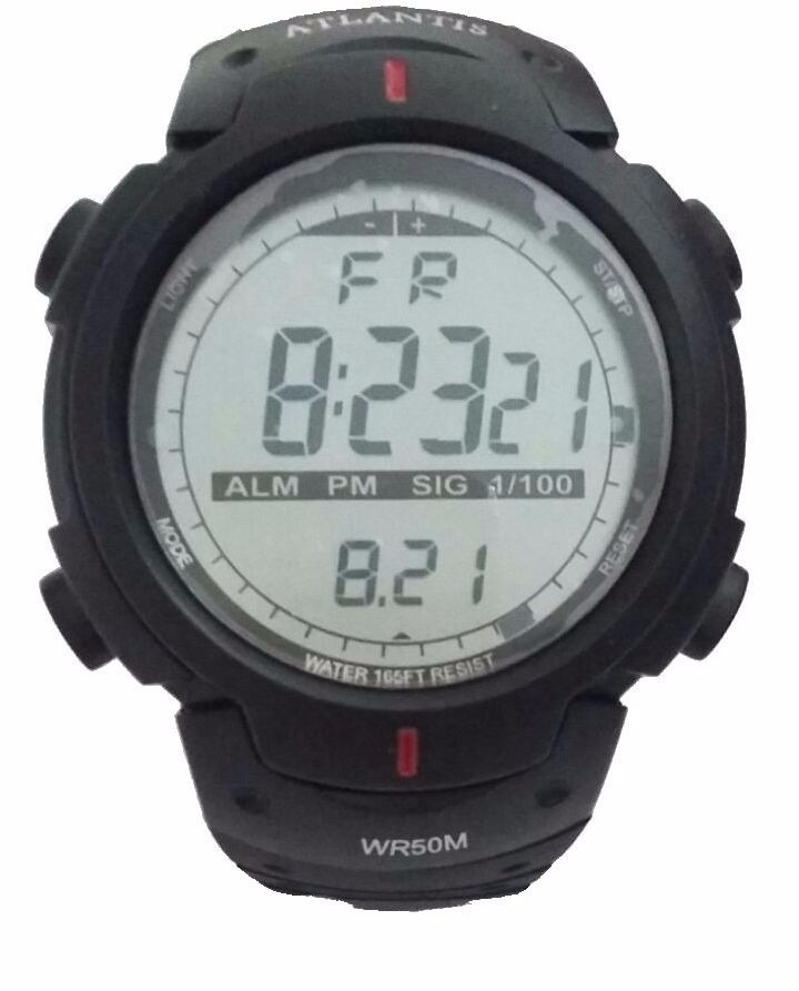 ae63a904697e9 Relógio Atlantis Digital Esportivo Cronômetro Prova Dágua - R  49