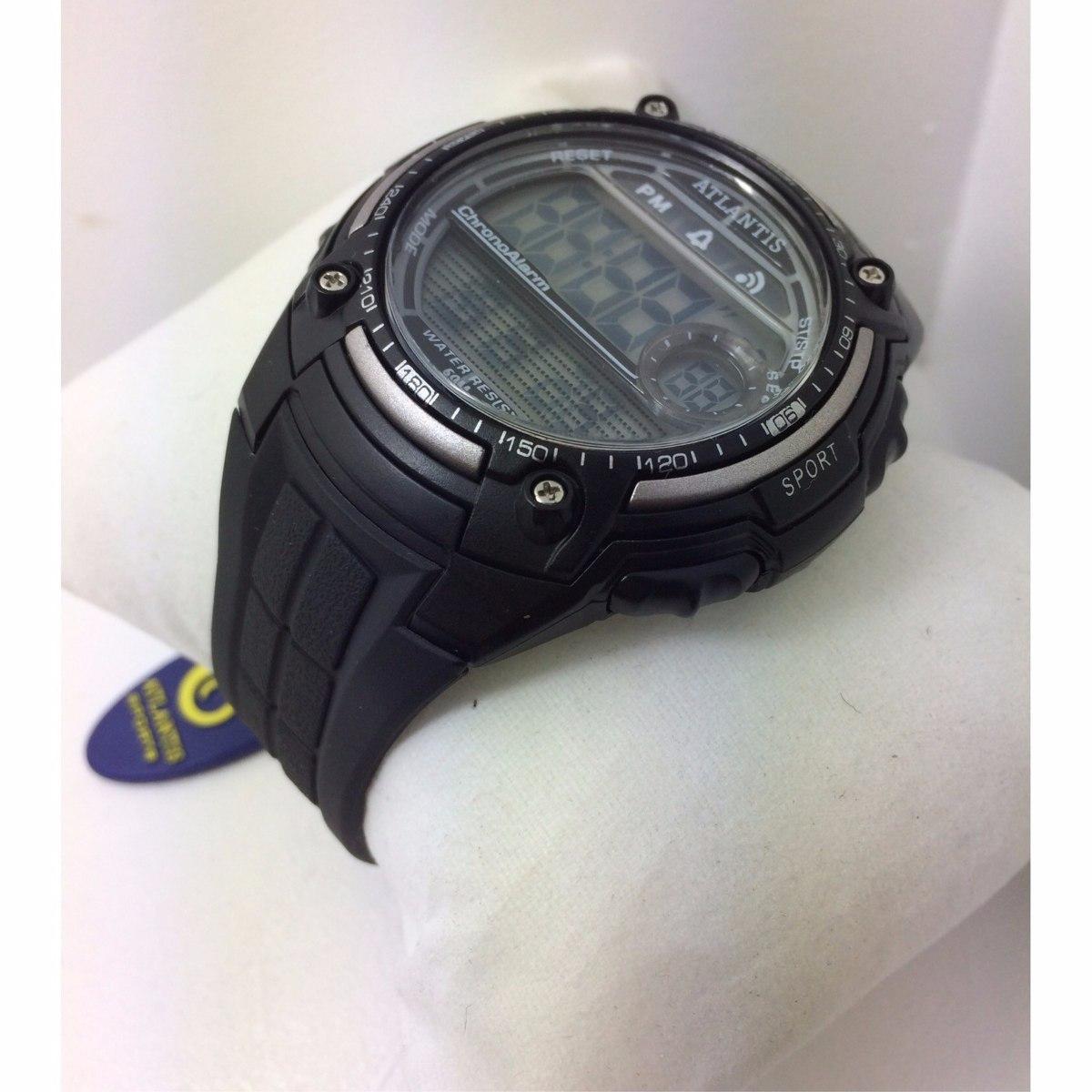 5215b715ebc Relogio Atlantis Digital Natação Sport Prova D agua G7408