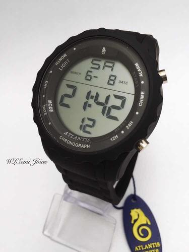 relógio atlantis digital sport prova d´água