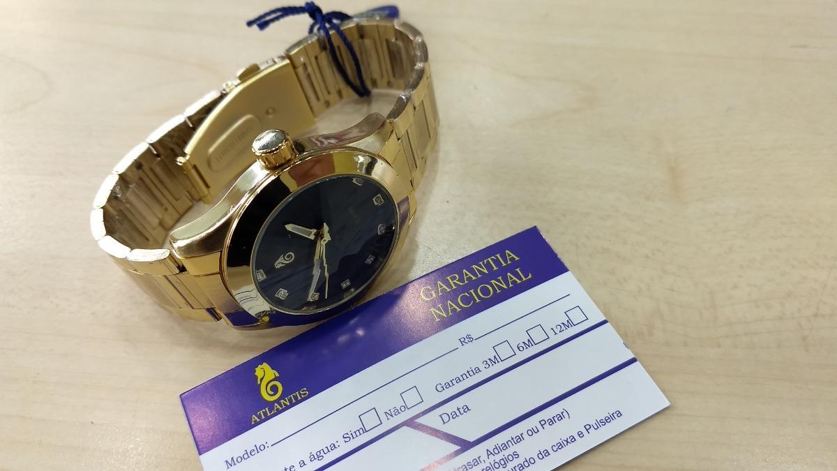 35a7170838b Relógio Atlantis Feminino Luxo Original - Lançamento 3352 - R  124 ...