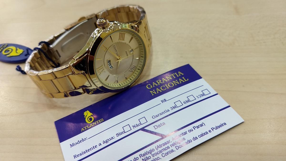 5a741a3044c Relógio Original Atlantis Dourado Feminino Frete Gratis - R  120
