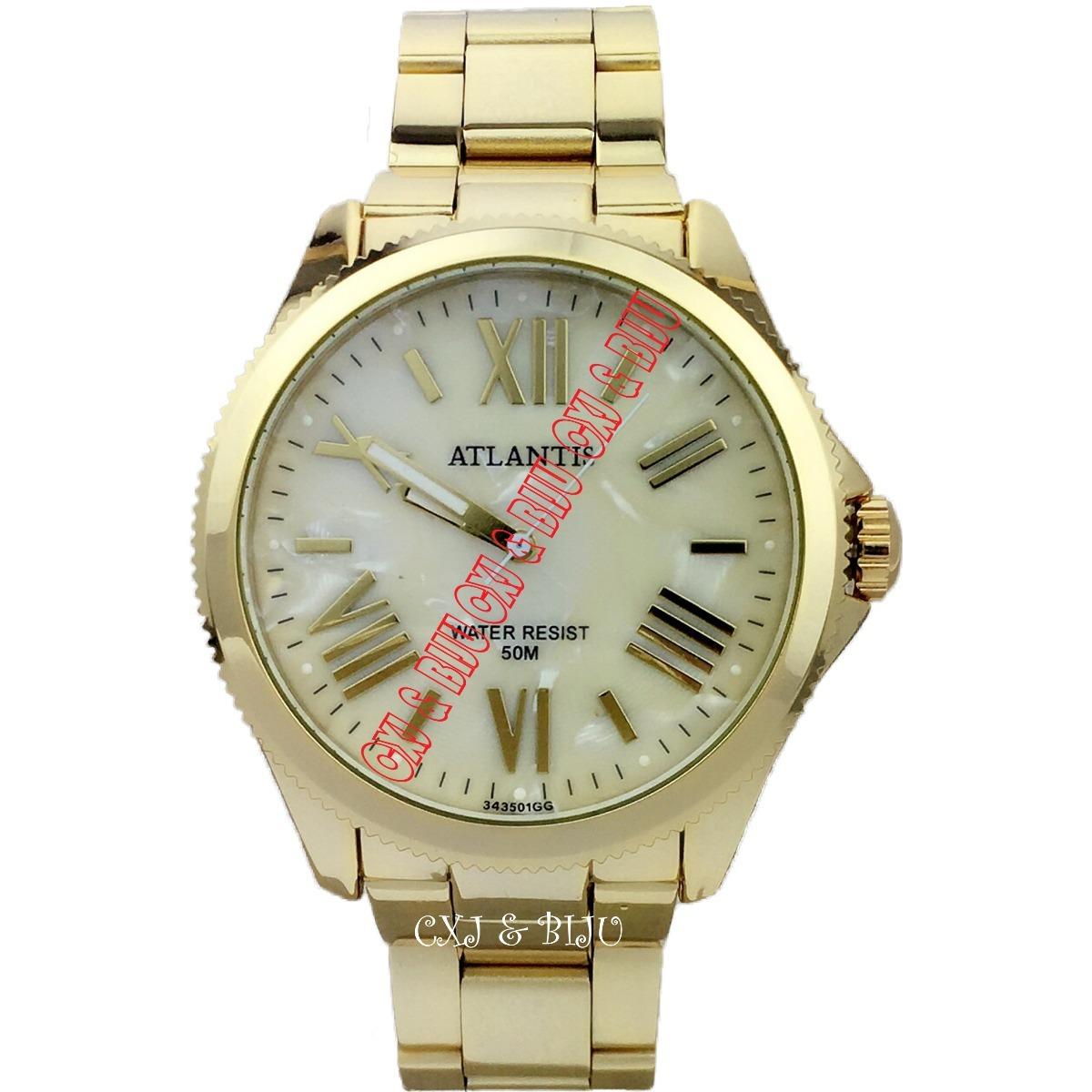 b24528e5e43 relógio atlantis feminino aço folheado ouro diametro de 4cm. Carregando  zoom.