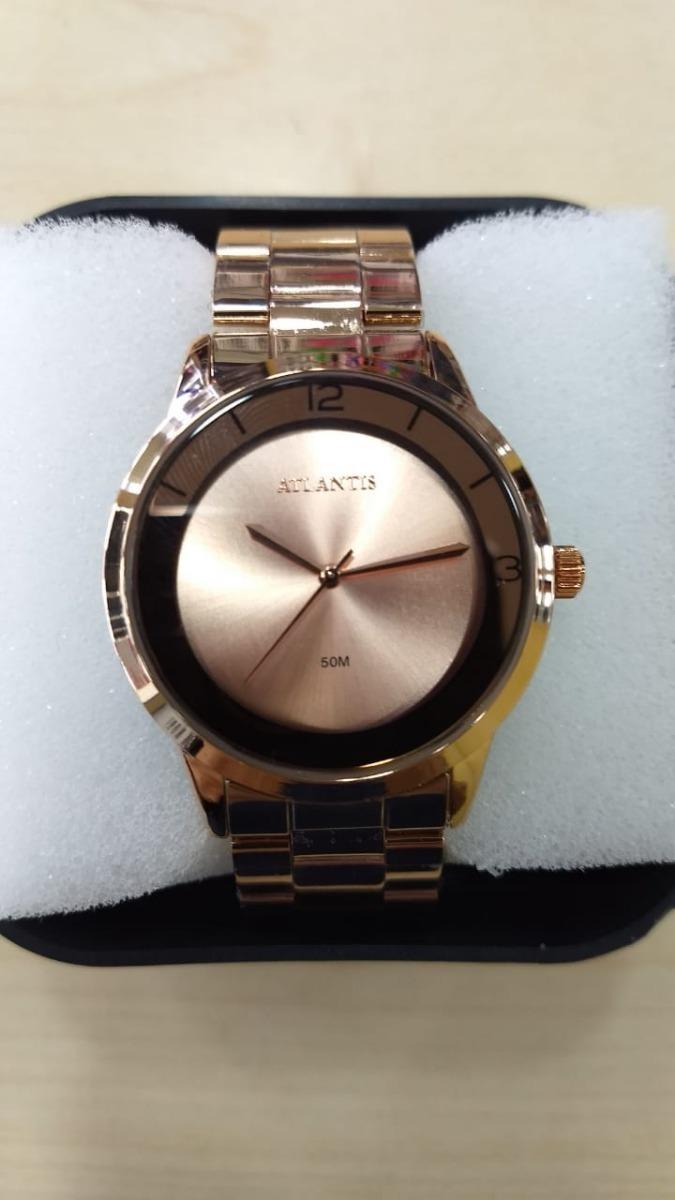 63868e6e47e relógio atlantis feminino rose luxo. Carregando zoom.