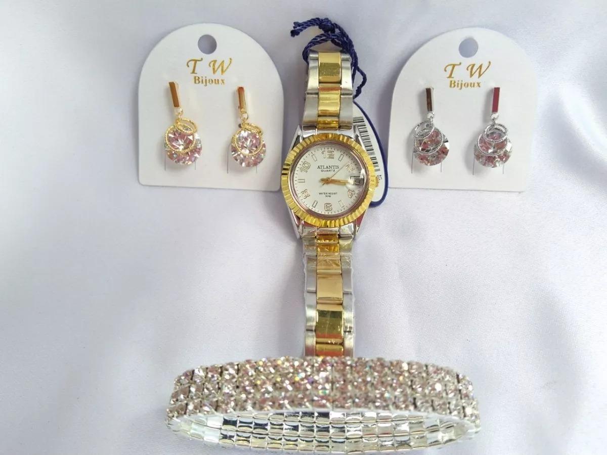 9f1869acb75 relógio atlantis fundo branco + bijuterias. Carregando zoom.