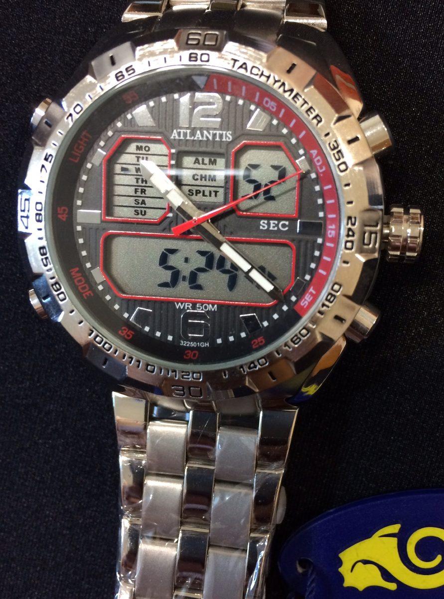 fd3c1c90165 relógio atlantis g3225 original prata. Carregando zoom.