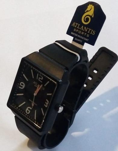 relógio atlantis g5531 preto ponteiro laranja novo