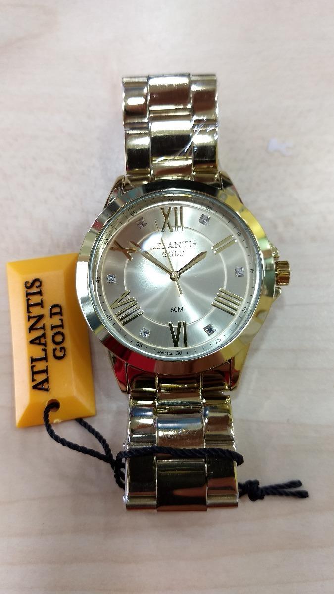 a48433cb67e relógio atlantis gold luxo original lançamento. frete grátis. Carregando  zoom.