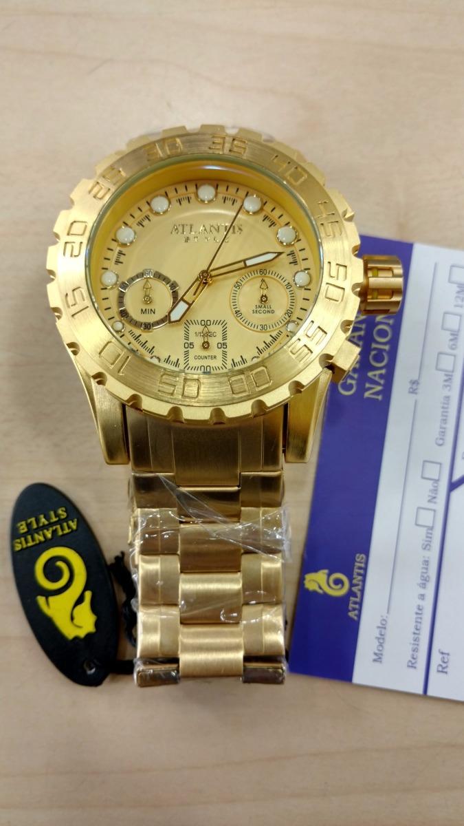 6c59461f3fe relógio atlantis masculino 100% funcional frete gratis. Carregando zoom.