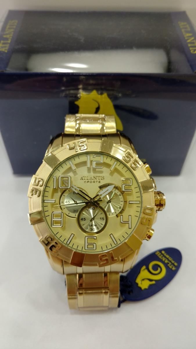 1187df1ec8d Carregando zoom... atlantis masculino relógio. Carregando zoom... relógio  atlantis masculino dourado original frete gratis