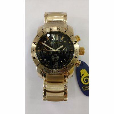 54f337520c7 Relógio Atlantis Masculino Dourado Original Frete Gratis - R  127