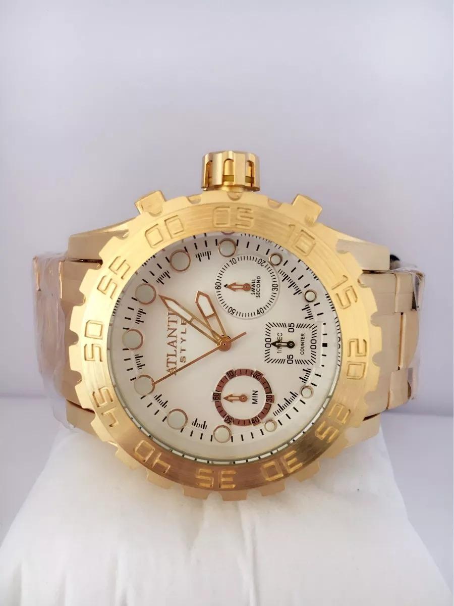 abb9e442bd6 relógio atlantis masculino dourado ser.luxo original a3311. Carregando zoom.