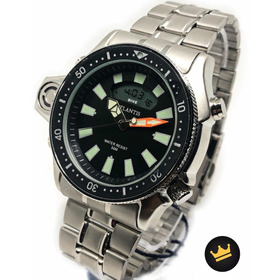 Relógio Atlântis Masculino Original Aprova D'água De Luxo!!