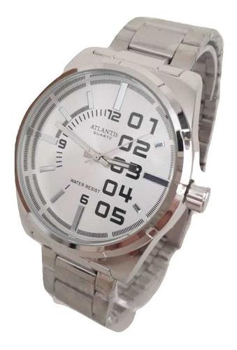 relógio atlantis masculino original barato prata