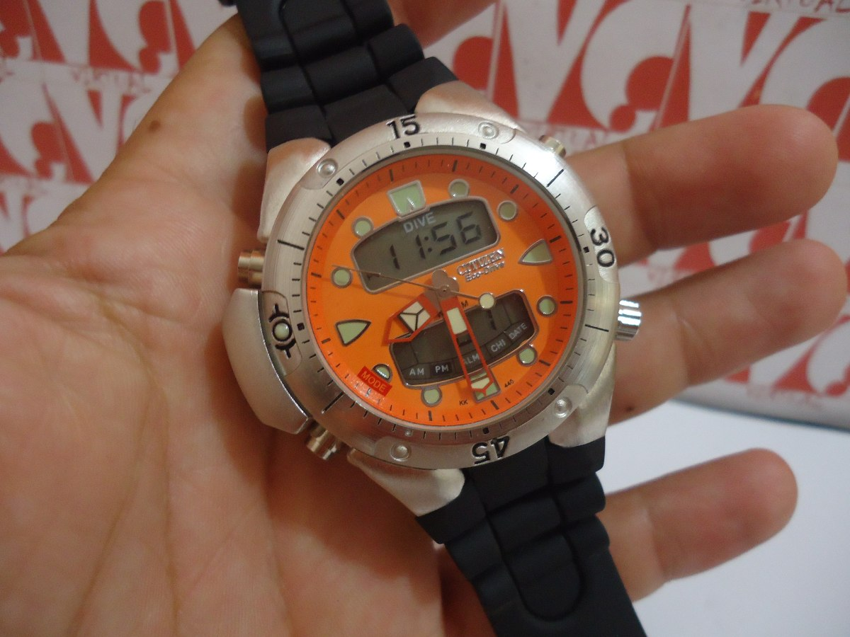 094a39fdc64 relogio atlantis modelo aqualand jp1060 laranja borracha. Carregando zoom.