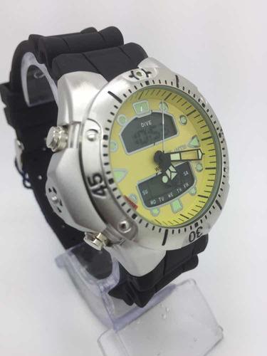 relogio atlantis modelo jp1060 aqualand amarelo