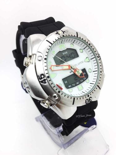 relogio atlantis modelo jp1060 aqualand branco