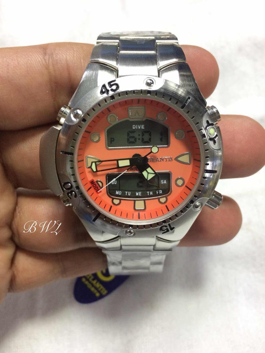 d4761cc3fa9 relogio atlantis modelo jp1060 aqualand laranja. Carregando zoom.
