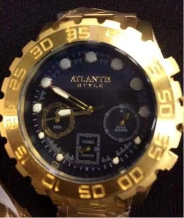 2d534ba6c3d Relógio Atlantis Original A3311 Grande Serie Style Dourado - R  189 ...