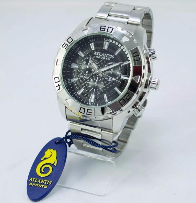 61a1cc3a3bc relógio atlantis original aço homem prata elite. Carregando zoom.