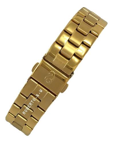 relógio atlantis original dourado unisex dourado + caixinha